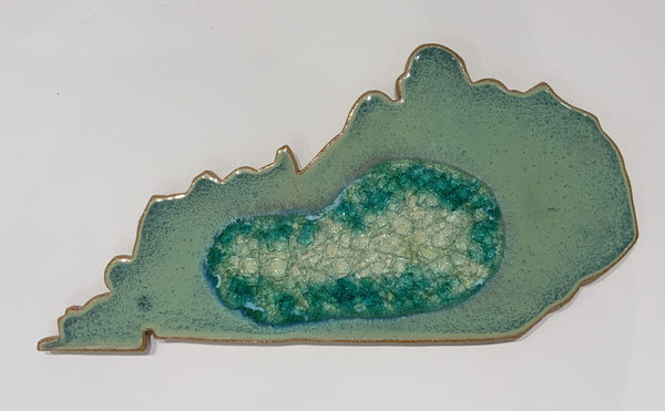 KENTUCKY TRIVET TEXT TURQUOISE
