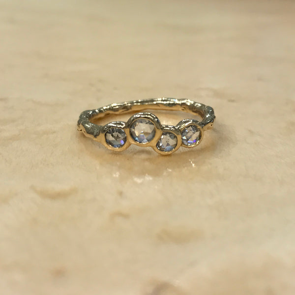 ROSE CUT DIAMOND BUBBLE BAND