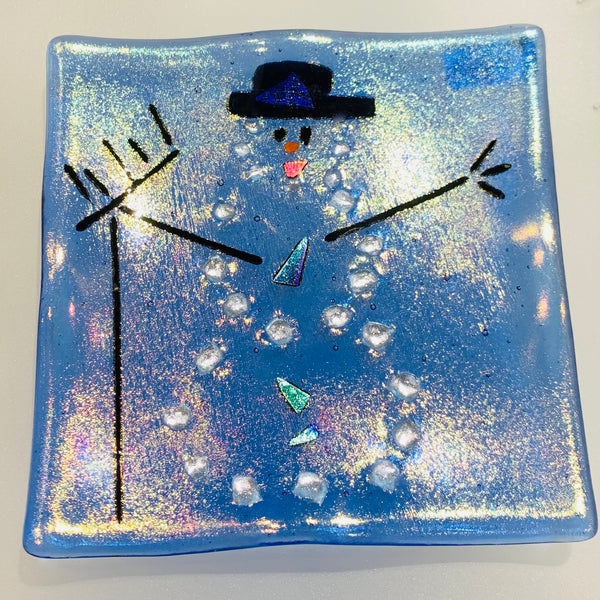 SMALL FROSTY SNOWMAN PLATE