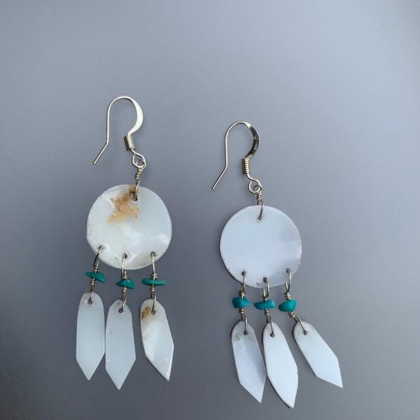 SHELL DREAMCATCHER EARRINGS