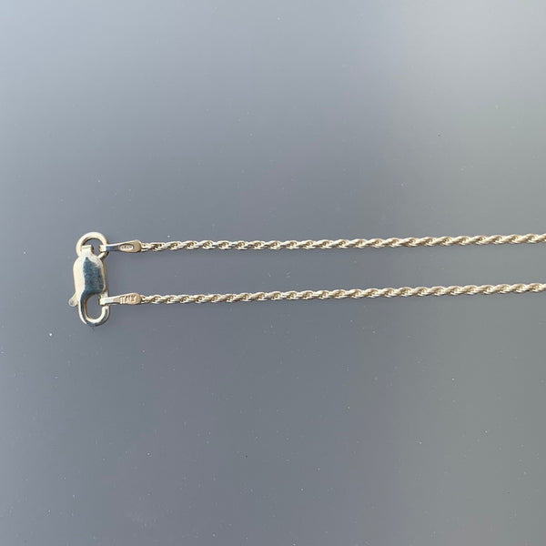 1.2 MM DIAMOND CUT ROPE CHAIN 16""