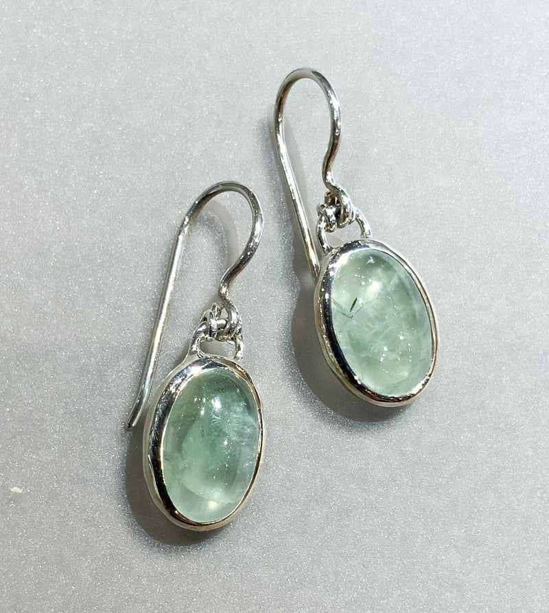 OVAL PREHNITE EARRINGS