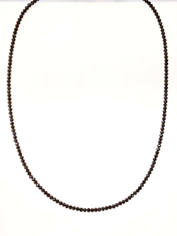 BLACK SPINEL FACETED BEAD CHAIN