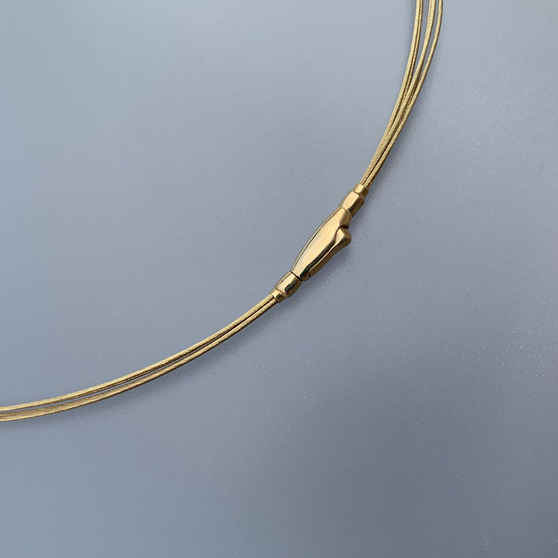 14K WIRE CABLE NECKLACE