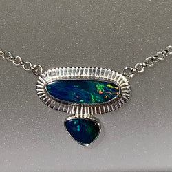 FREE FORM BLUE OPAL NECKLACE