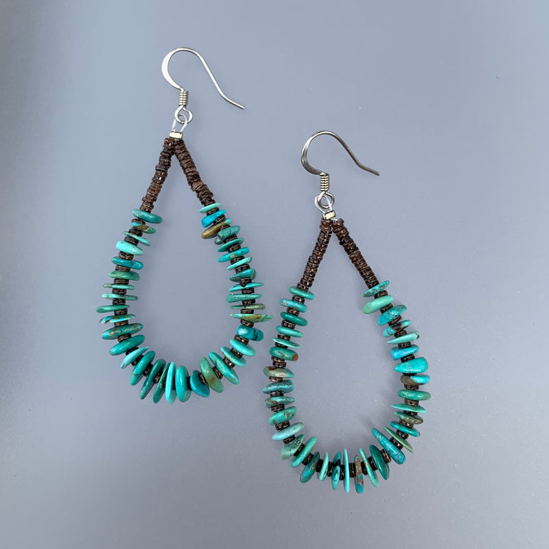 JEANETTE CALABEZA TURQUOISE EARRINGS