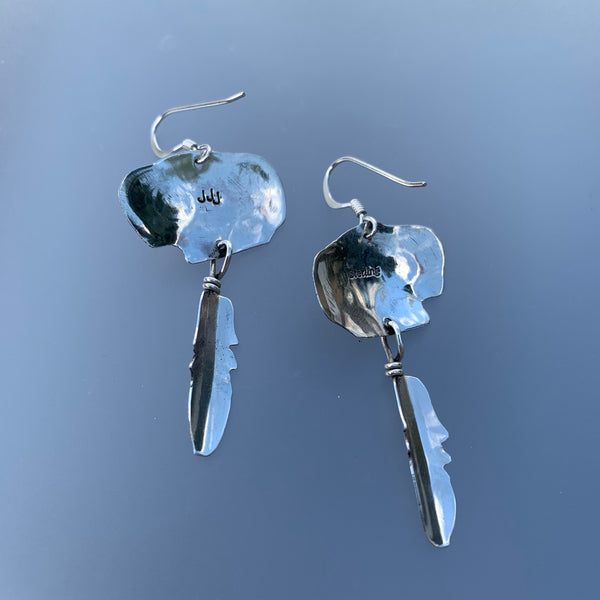 BUFFALO DANGLE EARRINGS