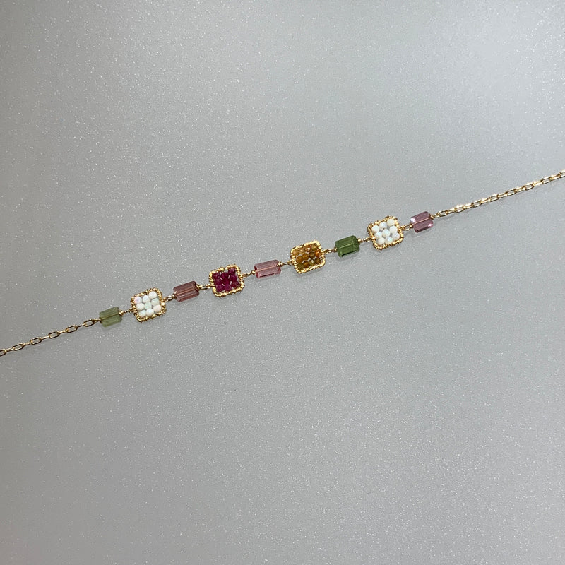 RUBY, TOURMALINE AND ETHIOPIAN OPAL BRACELET