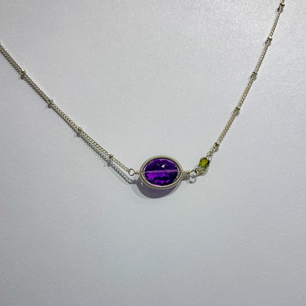 ERICA NECKLACE AMETHYST