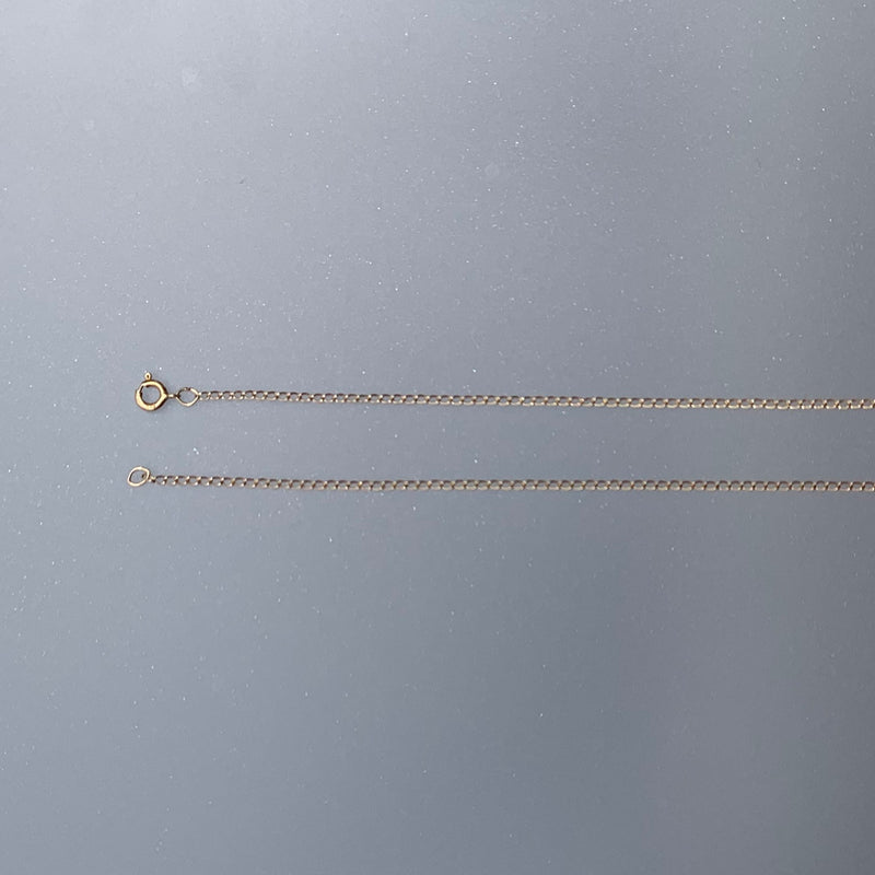1.1 MM CURB CHAIN 14K GOLD