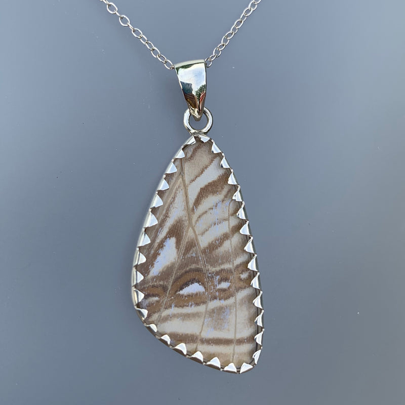 MEDIUM BUTTERFLY PENDANT - PALE IRIDESCENT