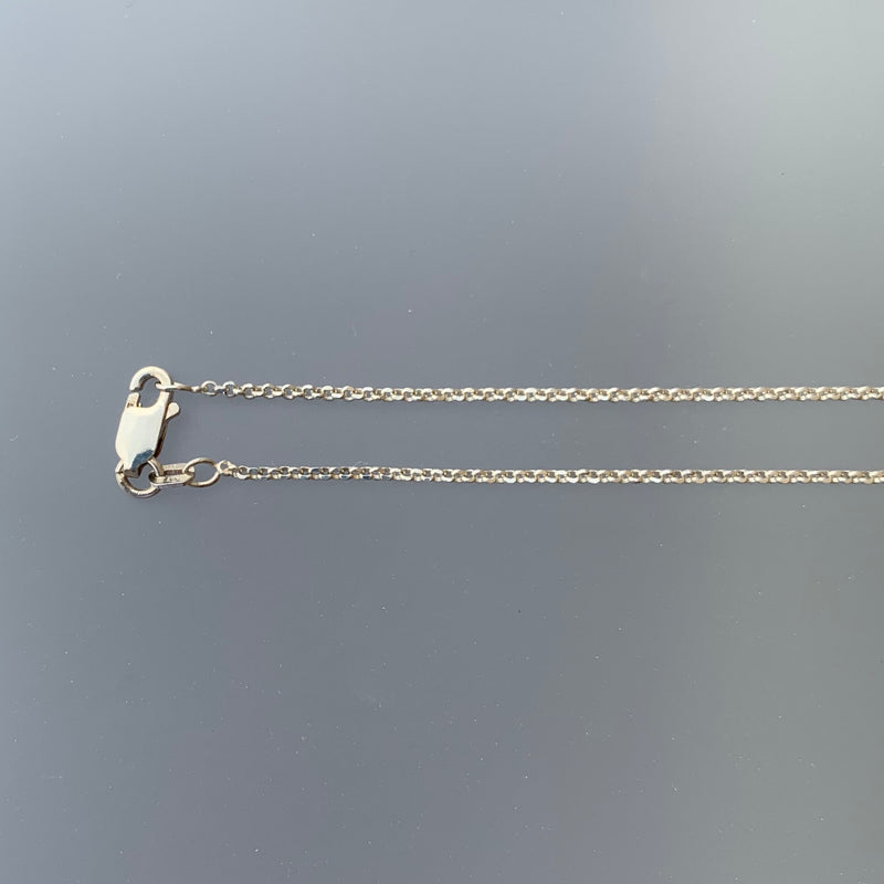 1.5 MM DIAMOND CUT ROLO CHAIN 16""