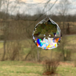 LARGE FACETED BALL WINDOW PRISM