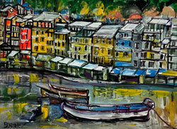 "30"" x 40"" COLORS ON THE WATERFRONT"