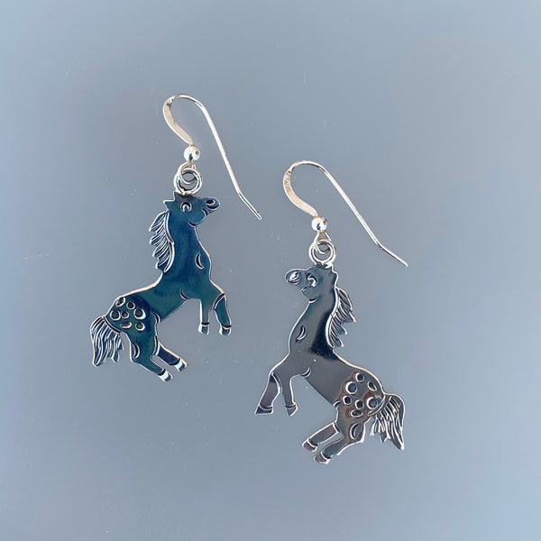 HAPPY HORSES STERLING EARRINGS