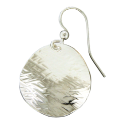WAVY CIRCLE EARRINGS - STERLING SILVER