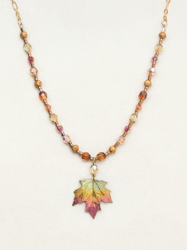 Peach Sugar Maple Beaded Necklace
