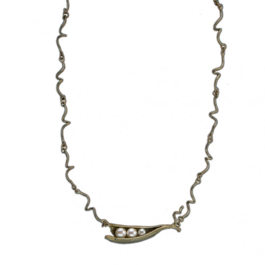 "PEAPOD 16"" ADJUSTABLE 3 PEARL TWIGS NECKLACE"
