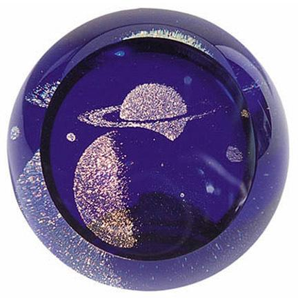 "3"" CELESTIAL SERIES PAPERWEIGHT - SATURN"