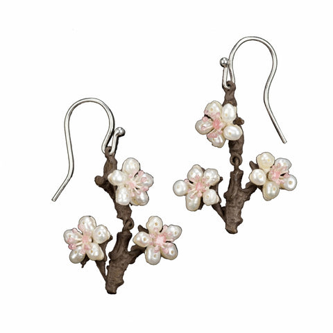 CHERRY BLOSSOM TWIG EARRINGS