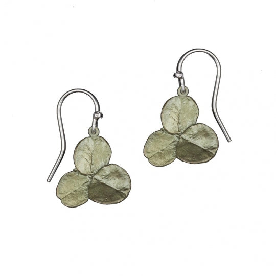 CLOVER 3 LEAF WIRE DROP EARRING