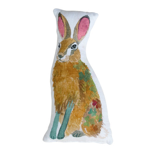 STUFFED HARE PILLOW
