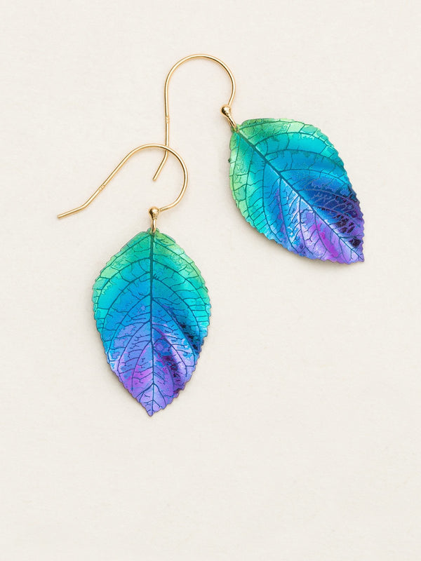TEAL PURPLE ELM EARRINGS HOLLY YASHI