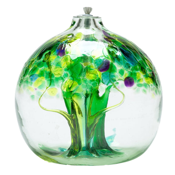 "6"" TREE OF ENCHANTMENT OIL LAMP - SPRING"
