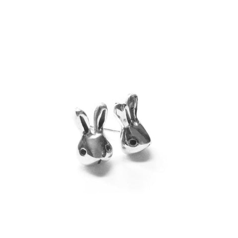 TINY RABBIT HEAD EARRINGS - elaine ho - 1