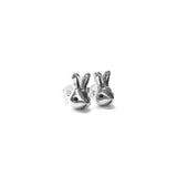 TINY RABBIT HEAD EARRINGS - elaine ho - 3