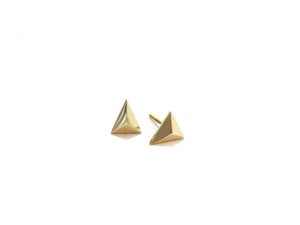 MINI TRIANGLE STUDS - 14K GOLD - elaine ho - 1