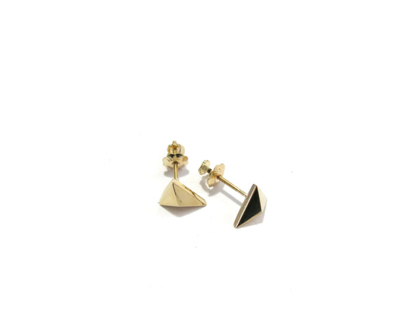 MINI TRIANGLE STUDS - 14K GOLD - elaine ho - 5