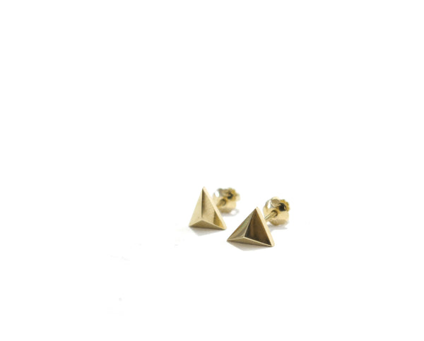 MINI TRIANGLE STUDS - 14K GOLD - elaine ho - 6