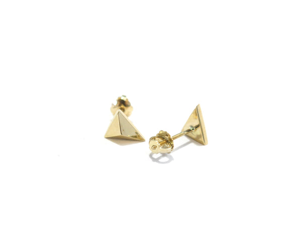 MINI TRIANGLE STUDS - 14K GOLD - elaine ho - 7