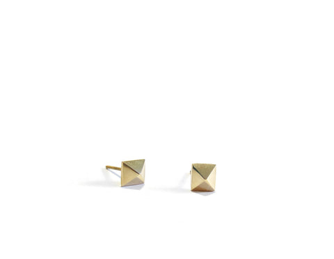 MINI PYRAMID STUDS - 14K GOLD - elaine ho - 1