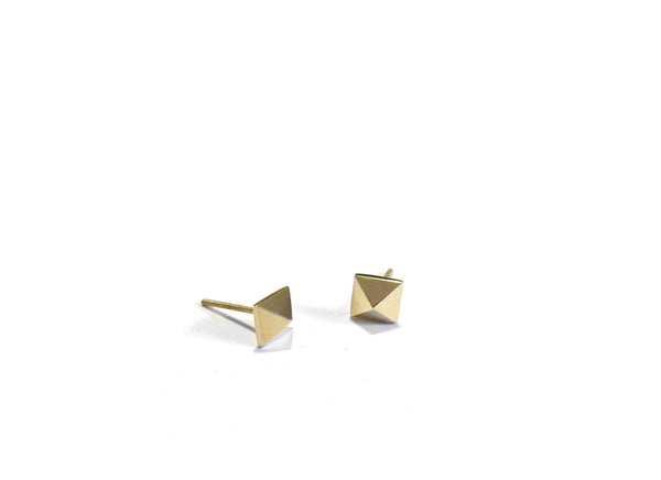 MINI PYRAMID STUDS - 14K GOLD - elaine ho - 2