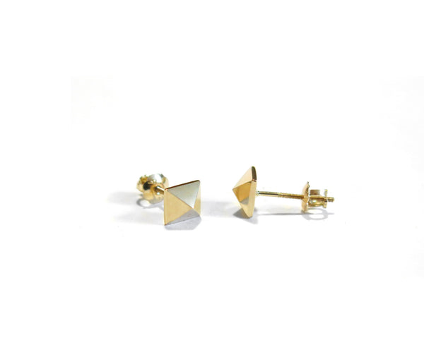 MINI PYRAMID STUDS - 14K GOLD - elaine ho - 4