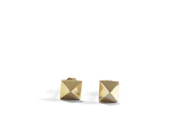 MINI PYRAMID STUDS - 14K GOLD - elaine ho - 5