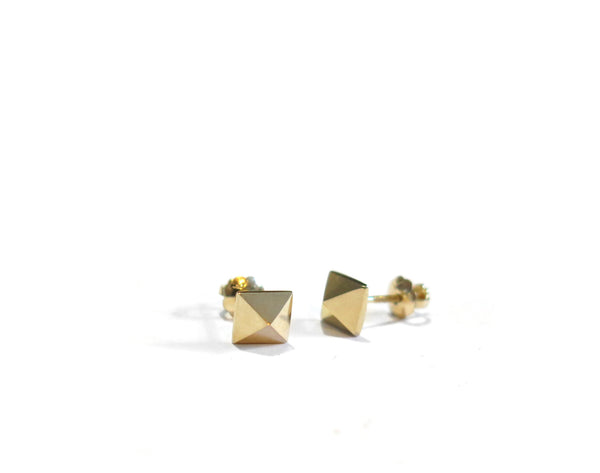 MINI PYRAMID STUDS - 14K GOLD - elaine ho - 6