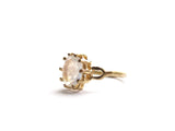 18K GOLD OVAL MOONSTONE RING