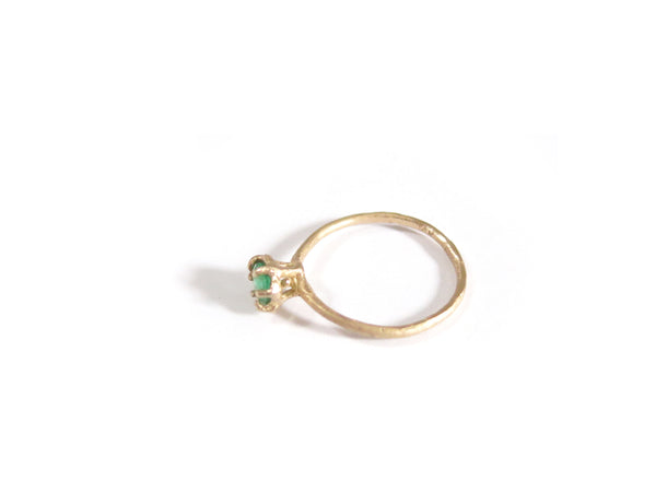 14K LITTLE EMERALD RING