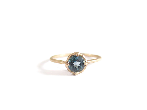 14K LONDON BLUE TOPAZ RING