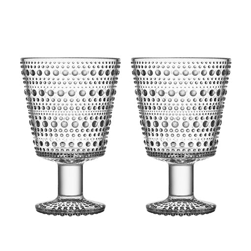 iittala Kastehelmi Universal Glass Set of 2 Clear