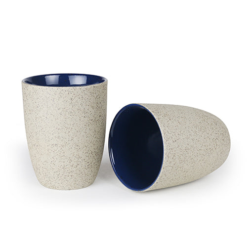 Robert Gordon Granite Latte Cup Set of 2 Indigo Blue