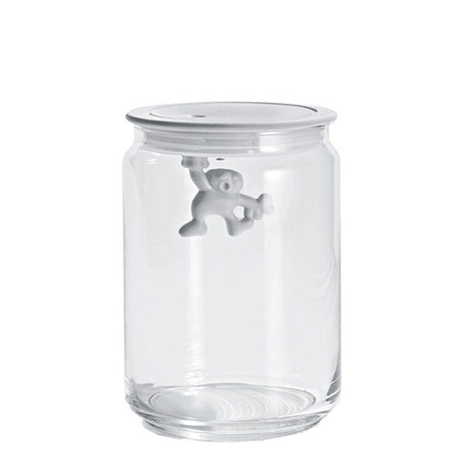 Alessi Gianni Medium Glass Jar with White Lid