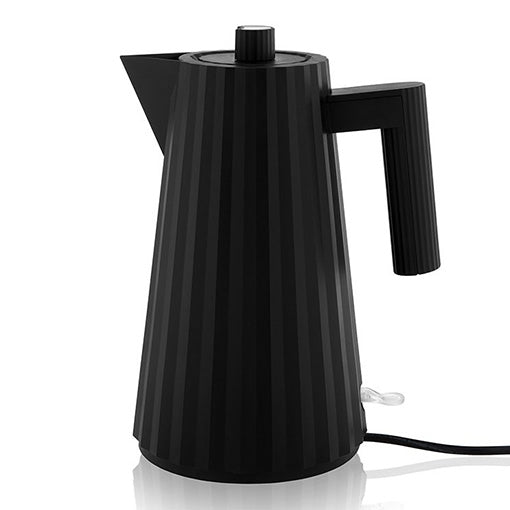 Alessi Plisse Electric Kettle Black