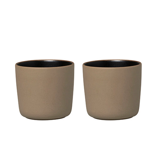 Marimekko Cup without Handles 200ml Set of 2 Oiva Terra Black