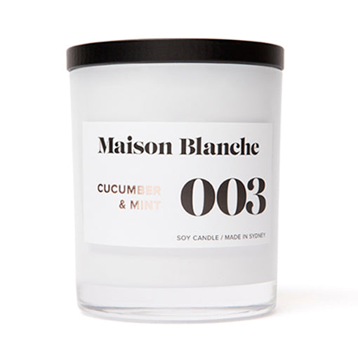 Maison Blanche Candle Large 003 Cucumber & Mint