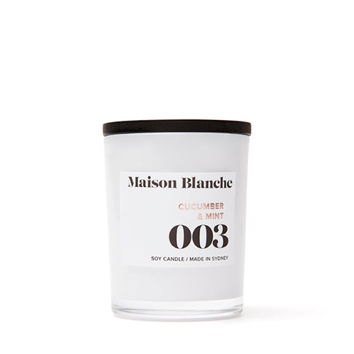 Maison Blanche Candle Small 003 Cucumber & Mint