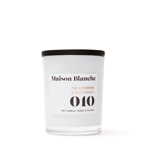 Maison Blanche Candle Small 010 Cedarwood & Patchouli